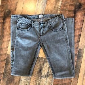 FREE PEOPLE Grey Stretch Skinny Jeans